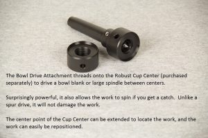 Bowl Drive Attachment for Cup Center