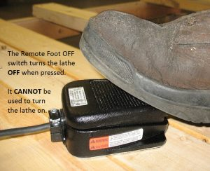 "Remote foot ""OFF"" switch"