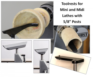 For Most 10″ and 12″ Mini & Midi Lathes with 5/8″ or 16 mm Posts