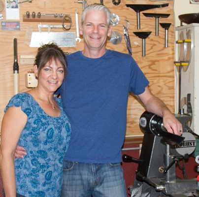 Carl and Robin Jacobson with their new American Beauty