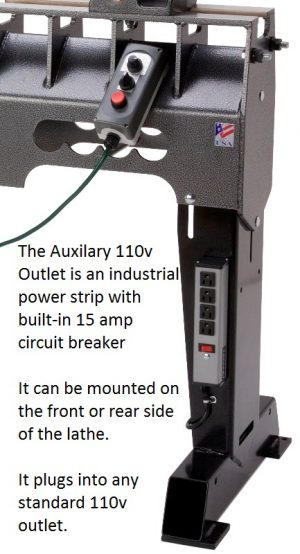 Auxiliary four outlet 110V E-box