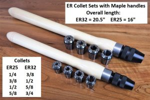 ER25 Collet Set with handle